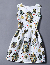 Summer 2016 Women Jacquard Printing Sweet Dress