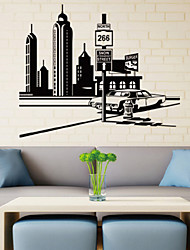 Wall Stickers Wall Decals Style City Landscape PVC Wall Stickers