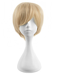 Fashion 30cm Light Brown Short Straight Wigs Sanji Cosplay Wigs Japanese Animee Costume Wig for Men Wearing Heat Resistant