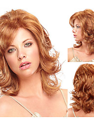 Fashionable Synthetic African American wigs Long Wavy hair wig for women Sexy Natural wigs with Bangs sw0138