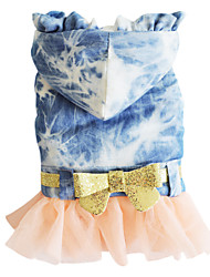 Dog Dress Blue Summer Fashion