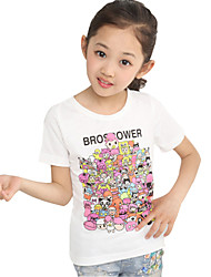 Girl's Cotton Spring / Fall Cartoon Pattern Fashion Korean All-match Round Collar  T-Shirt
