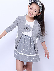 Girl's Floral Clothing Set,Cotton Summer Pink / Red / Gray