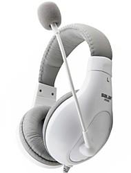 A566 salar over-ear controlli di volume cablata cuffie con microfono per computer di