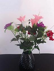 Polyester Roses / Lis Fleurs artificielles
