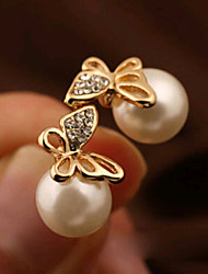 HUALUO@Earring Jewelry Boutique Gold-plated Butterfly Earrings Elegant lady
