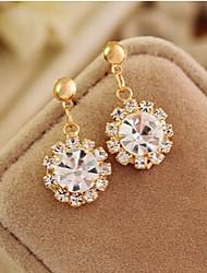 Earring Drop Earrings Jewelry Women Alloy / Cubic Zirconia / Gold Plated 1set Gold / Silver