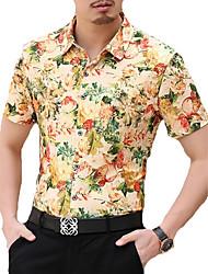 Men's Fashion Casual  Printing Short Sleeved Shirt (Cotton)Plus Sizes