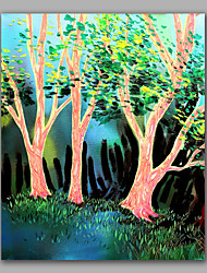 картина маслом весенний лес красивый пейзаж маслом с рамкой