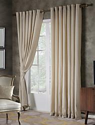 Two Panels Linen Dot Jacquard Curtain