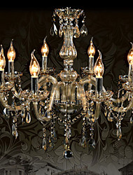 Ecolight™ 110V OR 220V 8 Lights Luxury Crystal Chandelier/Cognac Color/K9 Crystal Chandeliers Living Room / Bedroom