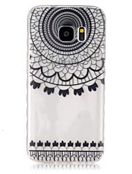 Para Funda Samsung Galaxy Transparente Funda Cubierta Trasera Funda Mandala TPU SamsungS7 / S6 edge / S6 / S5 Mini / S5 / S4 Mini / S4 /