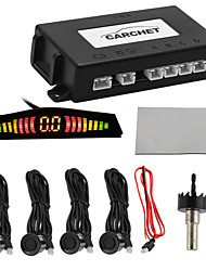 Car Auto Led Display 4 Parking Sensor Reverse Backup Radar System Sound Alert