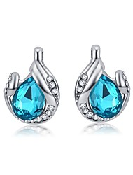 Full Crystal Earrings Stud Earrings for Women Tear Shape Earrings Fashion Jewelry Accessories