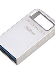 originais 32gb kingston usb dtmicro digital de 3.1 / 3.0 tipo uma unidade flash ultra-compacto de metal (dtmc3 / 100m / s)