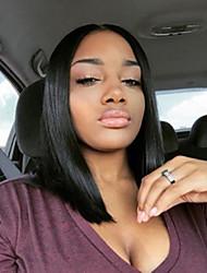 Premierwigs Short Bob Human Lace Wigs Light Yaki Glueless Lace Front Wigs For Black Women