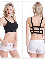 Multi-Strap Back (2 Straps) Wireless Sports Bra Spaghetti Strap Padded