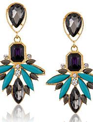 Earring Drop Earrings Jewelry Women Alloy 2pcs Gold / Blue