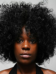 High Quality African Black Wig Fashion Style High Temperature Wire Short Curly Hair Wig