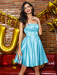TS Couture® Cocktail Party Dress - Pool A-line Strapless Knee-length Tulle