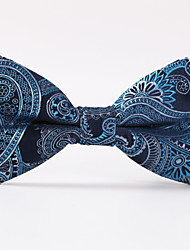 Blue Paisley  A Formal Butterfly Bow Tie