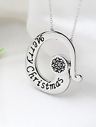 New Christmas Letter Christmas Merry Factory Direct Creative English Necklace