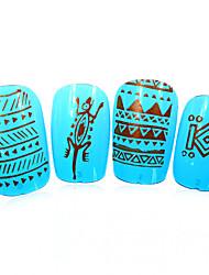 1pcs nieuwe 12x6cm image diy stamping platen nail art templates stencils voor polish xy-L17