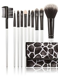 Synthetic Kabuki Makeup Brush Set Cosmetics Foundation Blending Brush Makeup Brush Kit (10pcs)