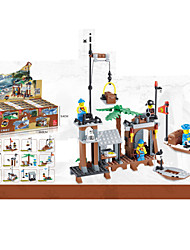 12piece/lot Pirate Bases Building Blocks Toys Hobbies Minifigure Children's Educational Toys Ship Model