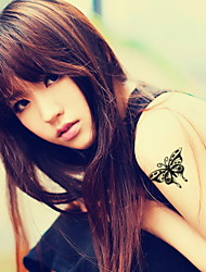 Butterfly  Waterproof Flower Arm Temporary Tattoos Stickers Non Toxic Glitter