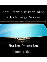 D858 HD Vehicle Driving Recorder Rear View Mirror Dual Camera 5 Inch G-Sensor