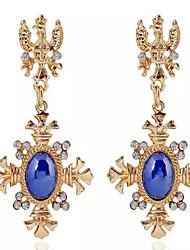 Ohrring,Tropfen-OhrringeSchmuck 2 Stück Aleación Weiß / Blau