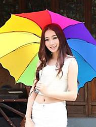 a cor aleatória guarda-chuva do arco-íris guarda-chuva dobrável proteção UV