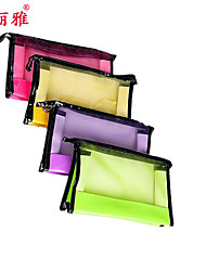 Cosmetic Bag Makeup Storage Solid Quadrate Polyester