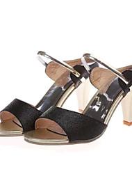 Women's Shoes Leatherette Stiletto Heel Heels / Slippers Heels / Slippers Casual Black / Purple / Gold