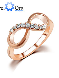 Ring Fashion Party Jewelry Alloy / Cubic Zirconia Women Band Rings 1pc,One Size Gold