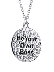 Europe And The United States Creative Engraved English Necklace