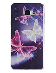 Für Samsung Galaxy Hülle Muster Hülle Rückseitenabdeckung Hülle Schmetterling TPU Samsung A7(2016) / A5(2016) / A3(2016)