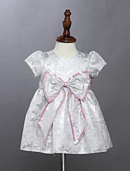 Robe Fille de Eté Coton Argent