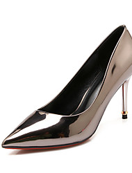 Women's Shoes  Stiletto Heel Heels / Pointed Toe / Closed Toe Heels Dress Silver / Taupe
