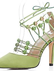 Zapatos de mujer - Tacón Stiletto - D'Orsay y Dos Piezas / Puntiagudos - Sandalias - Casual / Fiesta y Noche - Seda - Negro