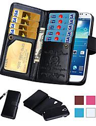 Para Samsung Galaxy Note Soporte de Coche / Cartera / Flip Funda Cuerpo Entero Funda Un Color Cuero Sintético SamsungNote 5 / Note 4 /