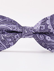 Light Purple Paisley  A Formal Butterfly Bow Tie