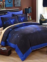 3D-Galaxie Bettwäschesätze Blumendruck Bettdecke gesetzt begehren