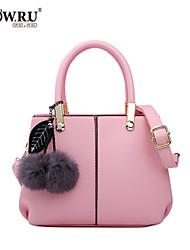 HOWRU ® Women 's PU Tote Bag/Single Shoulder Bag/Crossbody Bags-White/Pink