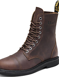 Men's Shoes Outdoor / Office & Career/Work & Duty / Party & Evening / Dress / Casual Nappa Leather Boots Black/Taupe