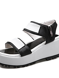 Women's Shoes Wedge Heel Wedges / Platform / Gladiator Sandals Outdoor / Dress / Casual Black / Silver