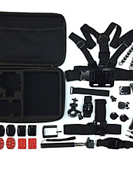Gopro Accessories 26 in 1 Set Helmet Harness Chest Belt  tripod monopod Hero 4 2 3+ Sj4000 XIAOMI YI