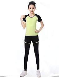 Running Shorts / Leggings / Clothing Sets/Suits / Bottoms Women's Short Sleeve Breathable / Ultra Light Fabric / Softness / Soft Modal