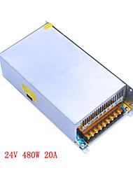 Jiawen AC110V / 220v для DC 24V 20A 480W трансформатор импульсный источник питания